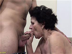 72 years elderly furry grandmother raunchy drilled