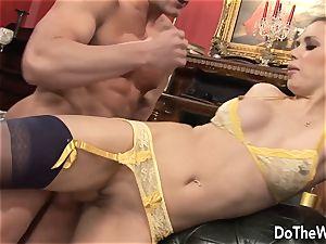 black-haired wife Karia Kare enjoying strangers fuck-stick