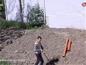 MyDirtyHobby super-fucking-hot nubile humping the Gardener