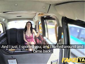 fake cab soddening moist internal ejaculation for steaming black-haired