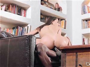 Abella Danger deep interracial drill with big black cock