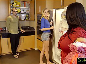 blonde teen Haley's obsessed with her stepdad's bone