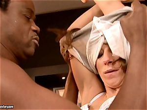 virginal girl Debbie milky is punctured in the gullet with aged boy manmeat