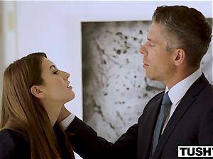 TUSHY secretary Makes Her boss Work For anal invasion