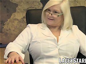 LACEYSTARR - GILF eats Pascal white jizm after hump