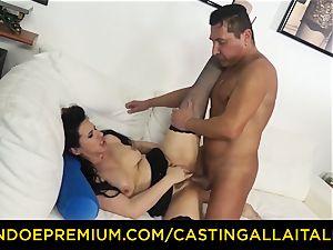 casting ALLA ITALIANA brown-haired nymphomaniac tough ass fucking orgy