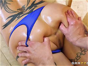 youthful stud screws mind-blowing insane milf Anna Bell Peaks in the kitchen