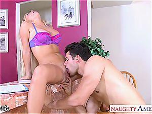 big-boobed wife Tasha Reign gets penetrated