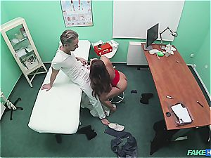 faux clinic sumptuous rump patient with hairless honeypot