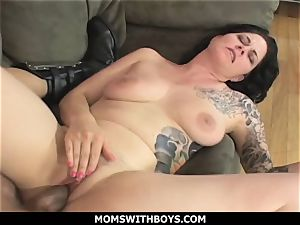MomsWithBoys - ginormous boobed cougar Michelle Aston And A enormous trunk