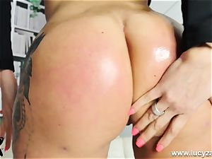 towheaded mummy Lucy Zara gets naked for JOI faux-cock banging