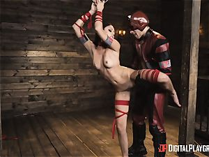 kinky superhero romp with Ariana Marie and Xander Corvus
