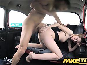 faux cab slender redhead luvs rough intercourse