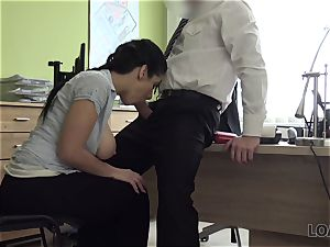 LOAN4K. ample udders and booty of Alex makes tricky agent highly super-naughty