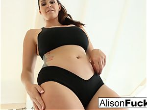 Alison Tyler works a fake penis