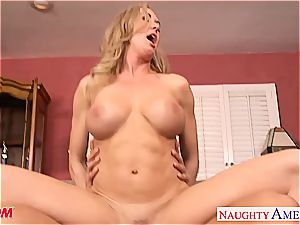 blonde Brandi love has excellent boobs and loves thick manstick