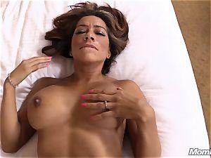 super hot Latina fledgling cougar first-ever timer