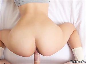 older sir restrain bondage sub and hairy stud bangs chick presenting Dukke