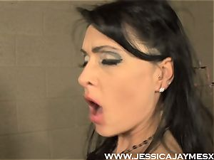 Jessica Jaymes and Darryl Hanah drilling fuck stick deep into muffs