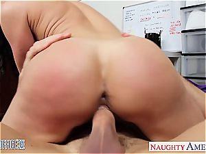 hotty dark-haired Kendra lust pummeling in the office