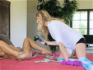 August Ames and Kenna James getting edible on cam