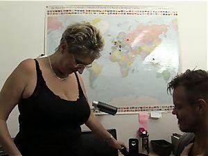 xxx Omas - towheaded German grandma likes sloppy office intercourse