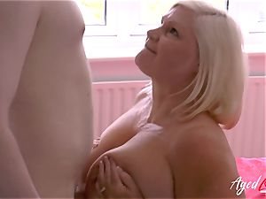 AgedLovE gonzo sex with Mature Lacey Starr