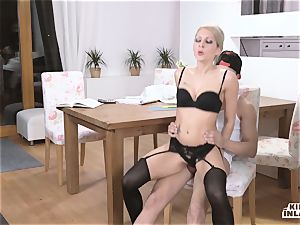 naughty INLAWS - slim Czech ash-blonde sizzling penetrate with stepson