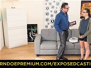 revealed audition - Nerdy fledgling brown-haired bombshell fucked