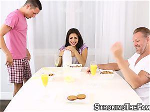 Latina in stepfamily 3way