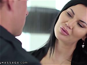 NuruMassage british milf Jasmine Jae seduces Cop