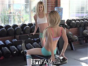 SpyFam Step bro Catches Step Sisters licking vag