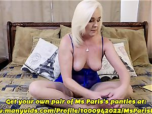 Ms Paris flashes Her Sold ManyVids g-string prep