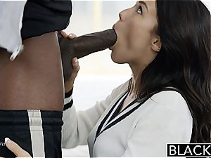 BLACKED Megan Rains first-ever practice With huge ebony salami Part 1
