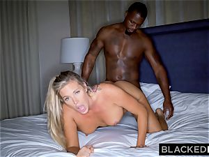 BLACKEDRAW platinum-blonde trophy wife Cucks Her hubby With big black cock