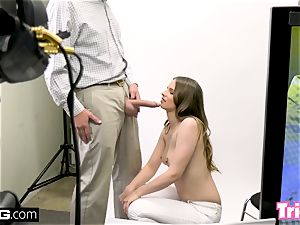 Jillian Janson gets tricked into smashing on a casting