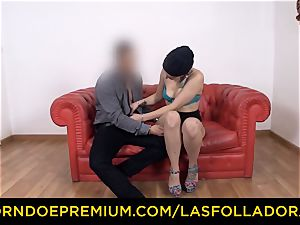 LAS FOLLADORAS - Spicy light-haired woman face sitting perv