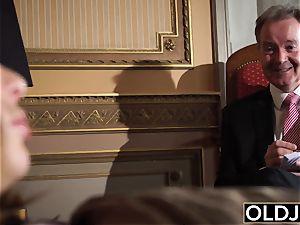 elderly man nails honey nubile cooch hook-up old youthful porno