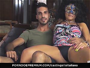 casting ALLA ITALIANA amateur dumps in ass fucking shag