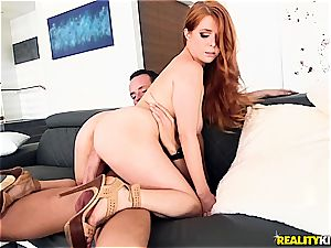 Penny Pax bosom is used for target practice