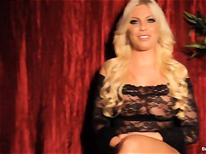 Britney Amber gives an interview and milks