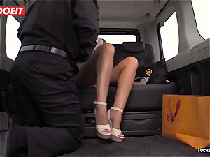 Czech customer Vinna Reed gets pulverized in taxi