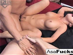 Asa and Dana team up for a warm 3 way with Derrick