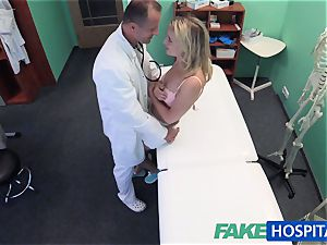 FakeHospital nice towheaded patient gets cunt check-up