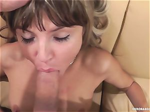 Gina Gerson luvs getting her face strewn with spunk