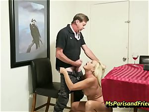pummeling the Boss's wifey with Ms Paris Rose