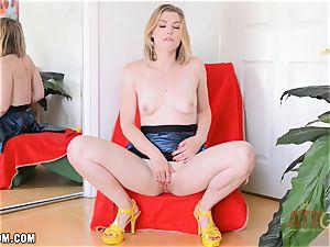 Ella Nova drains rock-hard and cums