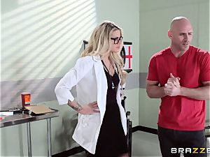 warm doctor Jessa Rhodes checks out this hefty spunk-pump