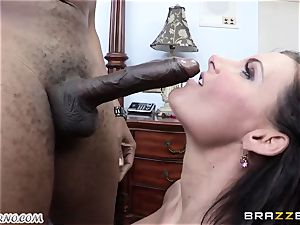 Phoenix Marie is prepped to take a ample ebony knob in her gash