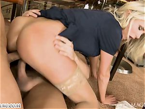 tipsy Head with his acquaintance drilled barmaid